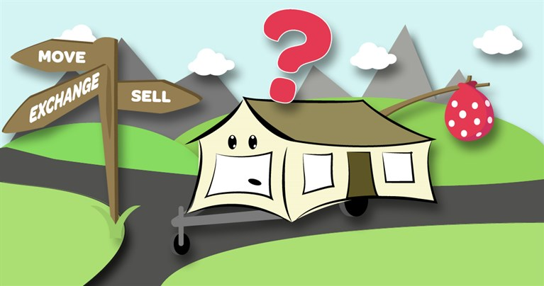 Move my static caravan, part exchange or sell privately?
