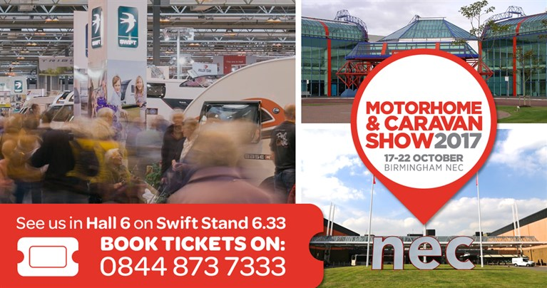 Caravan shows - The NEC Motorhome and Caravan Show - 17th - 22nd October - see 2018 holiday homes