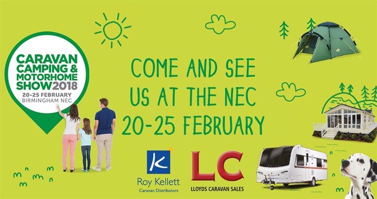 Join Lloyds Caravan & Lodge Sales at The Caravan, Camping and Motorhome Show at the NEC this February!