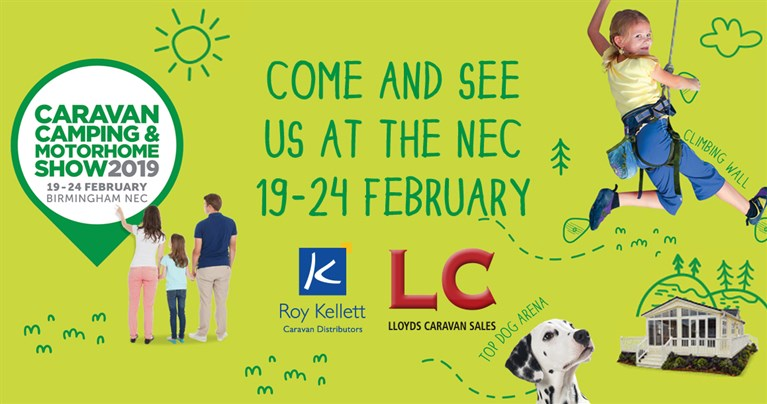 Come and see us at the NEC, Birmingham on 19th - 24th February  for the Caravan, Camping and Motorhome show
