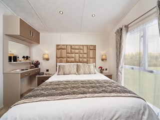 2019 Carnaby Envoy Static Caravan Holiday Home main bedroom