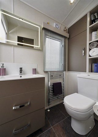 2019 Carnaby Envoy Static Caravan Holiday Home shower room