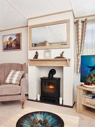 2019 Carnaby Helmsley Lodge Static Caravan Holiday Home fireplace