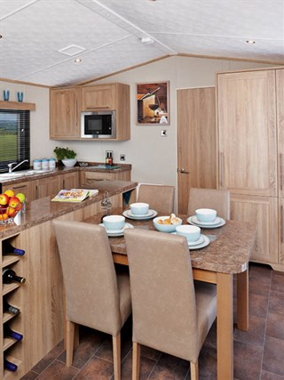 2019 Carnaby Helmsley Lodge Static Caravan Holiday Home dining area