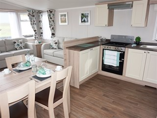2019 Swift Snowdonia Static Caravan Holiday Home dinette