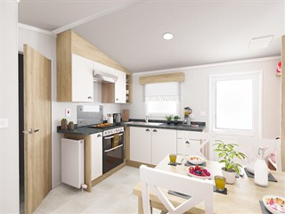 2021 Swift Biarritz Static Caravan Holiday Home kitchen