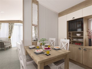 2021 Swift Biarritz Static Caravan Holiday Home dining area