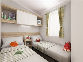 2021 Swift Biarritz Static Caravan Holiday Home twin bedroom