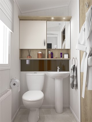 2021 Swift Biarritz Static Caravan Holiday Home shower room