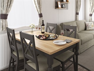 2021 Swift Bordeaux Static Caravan Holiday Home dining area