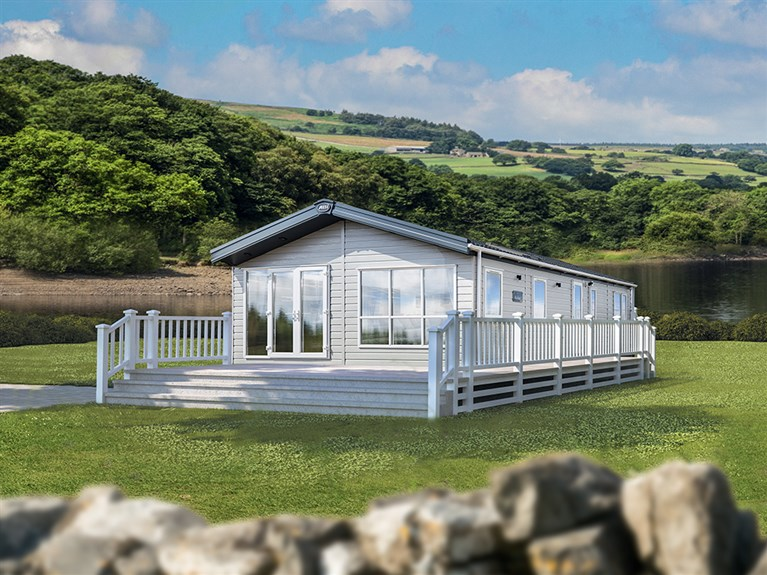 2020 ABI Kielder Static Lodge Holiday Home lounge
