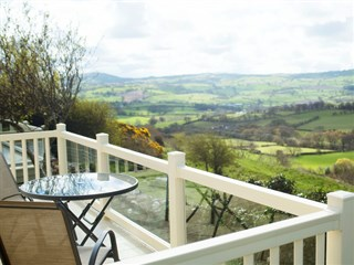 balcony views of Bryn Defaid Caravan Park