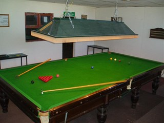 Pool table for the dads at Millers Cottage Caravan Park, Towyn