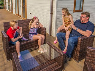 family time at Sarnfaen Caravan Park, near Barmouth