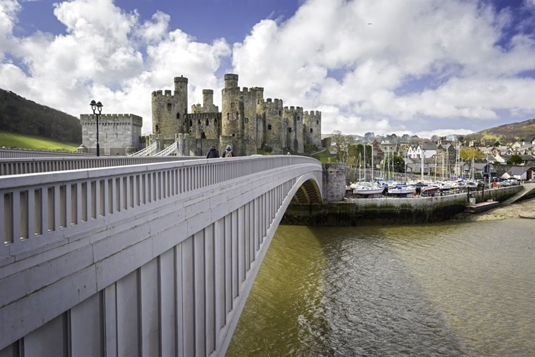 Bridge and Conwy Castle
