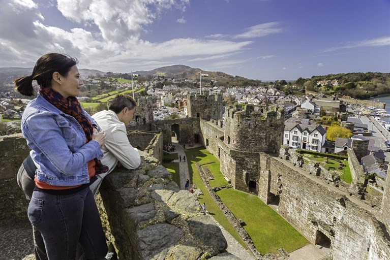 Visiting Conwy Castle
