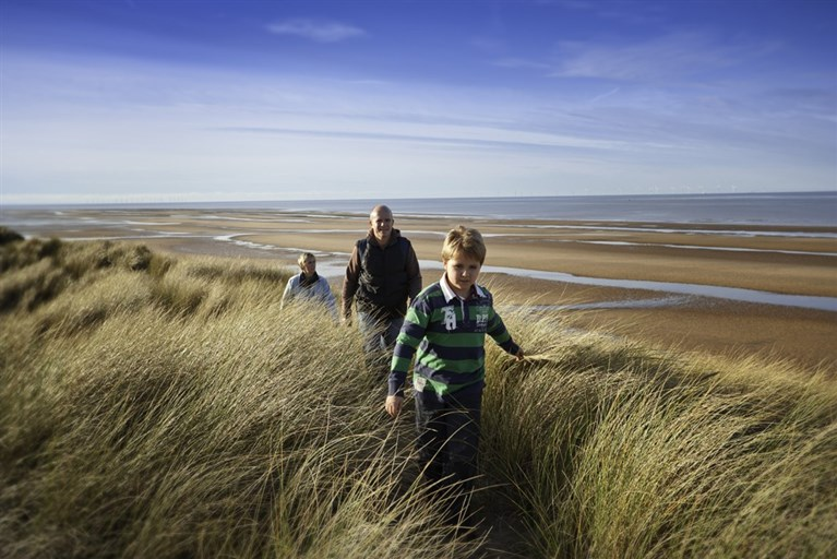 Walking, Gronant Dunes, Wales Coastal Path