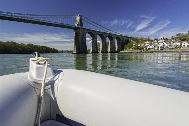 RIB ride on the Menai Strait